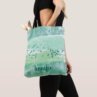 Schönes künstlerisches grünes tasche