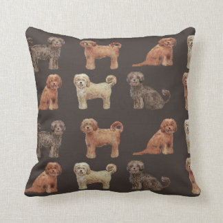 BEAUTIFUL LABRADOODLE DOG Polyester Throw Pillow