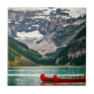 Schönes Lake Louise, Kanada Kleine Quadratische Fliese