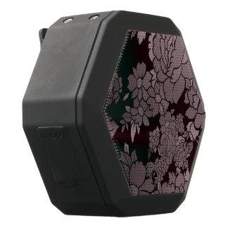 Schönes Leuchtstoff Blumenmuster Schwarze Bluetooth Lautsprecher