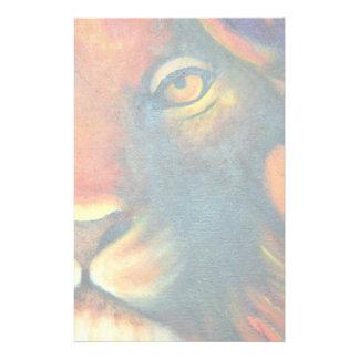 Schönes Löwe-Kopf-Porträt königlich und stolz Briefpapier