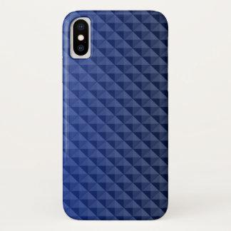 Schönes Muster der blauen Dreiecke iPhone X Hülle
