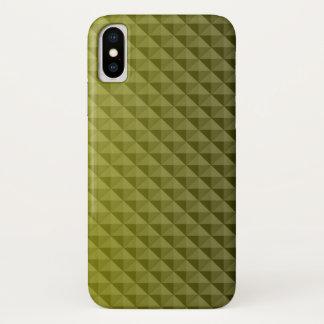 Schönes Muster der gelben Dreiecke iPhone X Hülle