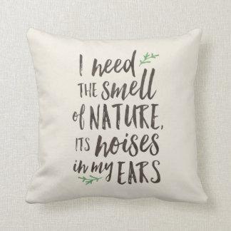 Schönes Natur-Typografie-Wurfs-Kissen Kissen
