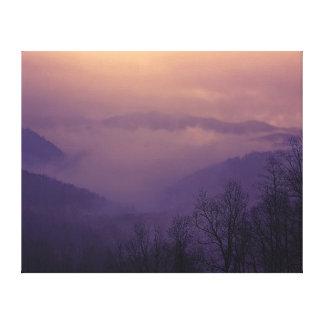 Schönes Nord-CarolinalandschaftsFoto Leinwanddruck