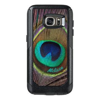 Schönes Pfau-Feder-Auge, Ihr Name OtterBox Samsung Galaxy S7 Hülle