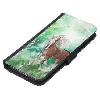 Schönes Pferd im Märchenland Samsung Galaxy S5 Geldbeutel Hülle