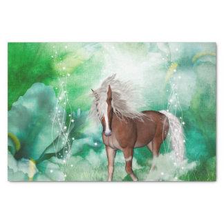 Schönes Pferd im Märchenland Seidenpapier