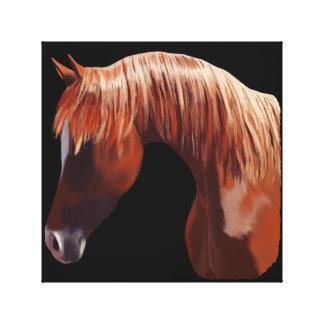 Schönes Pferdeporträt Leinwanddruck