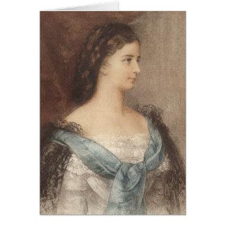 Schönes Porträt der Kaiserin Elisabeth - Sisi Karte