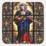 Schönes religiöses heiliges Herz der Jungfrau Mary Aufkleber