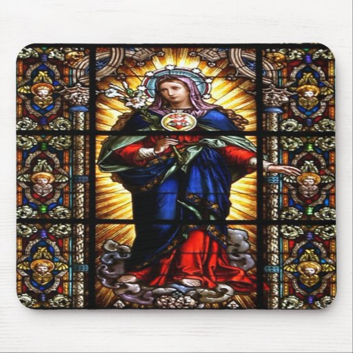 Schönes religiöses heiliges Herz der Jungfrau Mary Mauspad