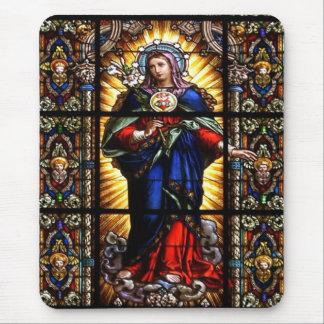 Schönes religiöses heiliges Herz der Jungfrau Mary Mousepad