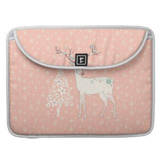 Schönes Ren-und Schneeflocke-Rosa Sleeve Für MacBook Pro