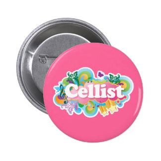 Schönes Retro Cellist-Musik-Geschenk Buttons