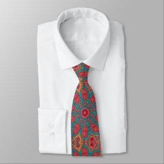 Schönes rosa aquamarines orange Zen-Muster Krawatte
