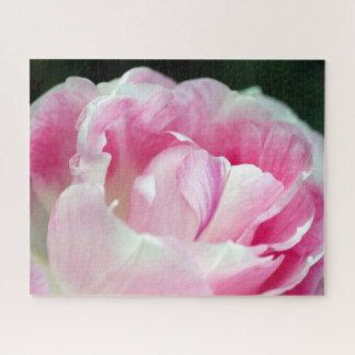 Schönes rosa Pfingstrosen-Puzzlespiel Puzzle