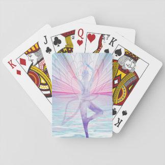 Schönes rosa u. blaues Vrikshasana Yoga Spielkarten
