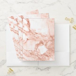 Schönes Rosen-Goldschein-Marmor-Muster Bewerbungsmappe