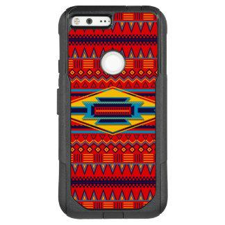 Schönes rotes afrikanisches Textilmuster OtterBox Commuter Google Pixel XL Hülle