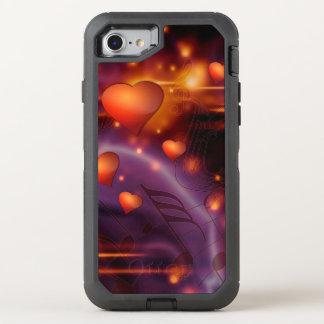 Schönes rotes Liebe-Muster OtterBox Defender iPhone 8/7 Hülle