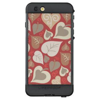 schönes rotes Liebeherz-Blätter LifeProof NÜÜD iPhone 6s Plus Hülle