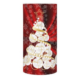 Beautiful Red Satin Snowy Christmas