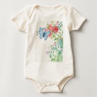 schönes Schmetterlinge Aquarell Baby Strampler