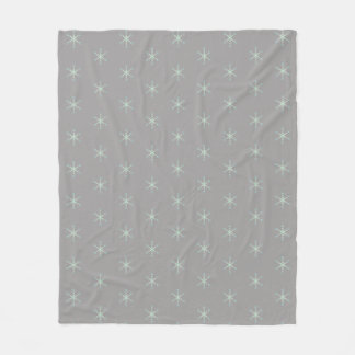 Schönes Schneeflocke-Muster Fleecedecke