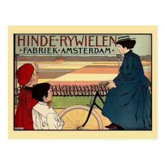 Schönes Schönheit époque niederländische Vintage Postkarte