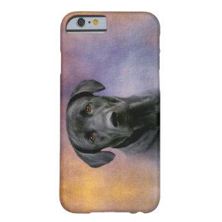 Schönes schwarzes Labrador retriever Barely There iPhone 6 Hülle