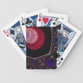 Schönes schwarzes, rotes Fravta Pokerkarten