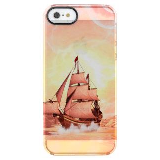 Schönes sealandscape durchsichtige iPhone SE/5/5s hülle