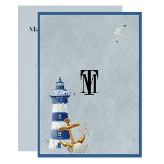 Schönes See, Leuchtturm, Anker, Gewohnheit Karte