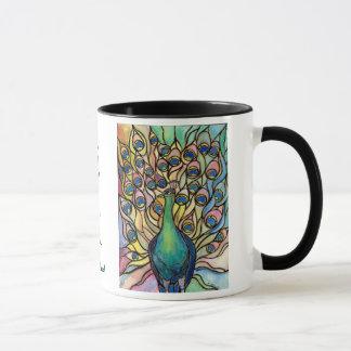Schönes Sein Tiffany Pfau-Tassen-feine Kunst Tasse