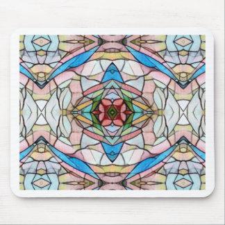 Schönes seltenes künstlerisches Buntglas-Muster Mousepad