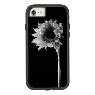 Schönes Sonnenblume-Porträt in Schwarzweiss Case-Mate Tough Extreme iPhone 8/7 Hülle