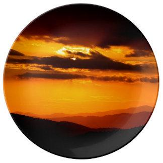 Schönes Sonnenuntergang-Foto Teller