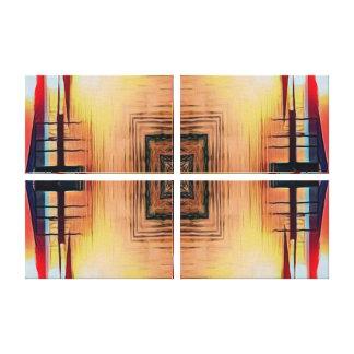 Schönes Spiegel-Bild horizontal oder vertikal Leinwanddruck
