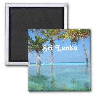 Schönes Sri Lanka Quadratischer Magnet