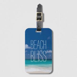 Schönes Strand-Glück Gepäckanhänger