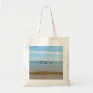 Schönes Strand-Glück mit leichter Welle Tragetasche