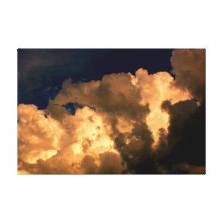 Schönes Sturm-Wolken-Natur-Himmel-Foto Leinwanddruck