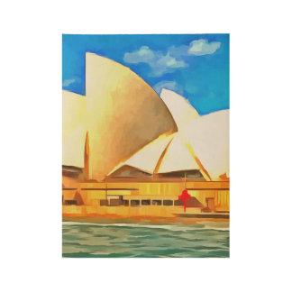 Schönes Sydney-Opernhaus Holzposter