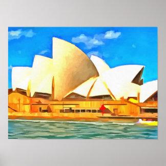 Schönes Sydney-Opernhaus Poster