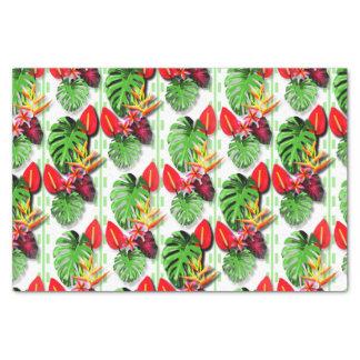 Schönes Trendy tropisches Blatt-Blumen-Thema Seidenpapier