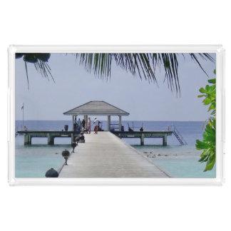 Schönes tropisches Meer Acryl Tablett
