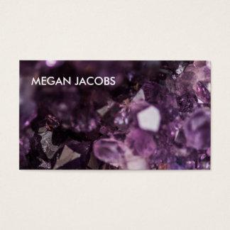 Schönes und mutiges lila KristallGeode Visitenkarte