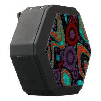 Schönes vibrierendes Wirbles abstraktes Muster Schwarze Bluetooth Lautsprecher