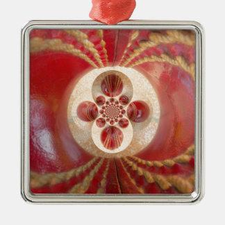 Schönes Vintages grafisches ledernes Kricket Quadratisches Silberfarbenes Ornament